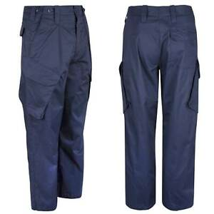 Genuine Military Surplus Royal Navy Blue PCS Combat Trousers - Used Serviceable