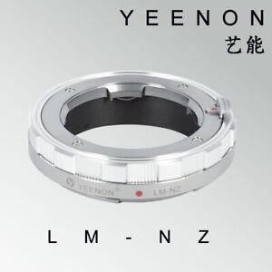 YEENON Leica LM  VM  lens to Nikon Z camera STANDARD adapter Silver