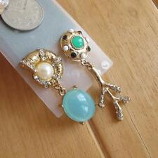 Long Earrings Baroque Palace Retro Green Snail Shell Gold Women Vintage Queen