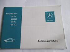 Benz 350 450 SL SLC W 107 Coupe Cabrio Betriebsanleitung Bedienungsanleitung