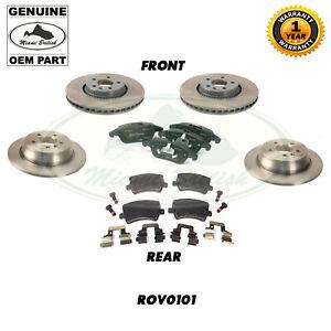 LAND ROVER REAR AND FRONT BRAKE SET LR2 FREELANDER 2 13-15 2.0L ROV0101 GENUINE