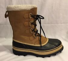 SOREL Caribou Winter Snow Boots Men's Size 9 Buff NM 1000-281
