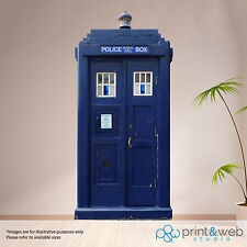 London Police Box Box Wall Sticker Decal Art Mural Bedroom Life Size Dr Who