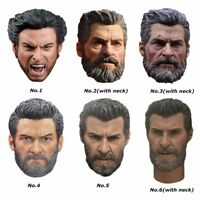 1/6 Scale Wolverine Logan Hugh Jackman Head Sculpt Hot Toys Fit 12'' Figure Body