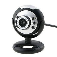 Night Vision Black USB 6 LED Camera Webcam plus MSN, ICQ  For PC Laptop Computer