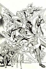 KEVIN NOWLAN SIGNED LEGENDS OF TOMORROW COVER ART-FIRESTORM,METAL MEN,METAMORPHO