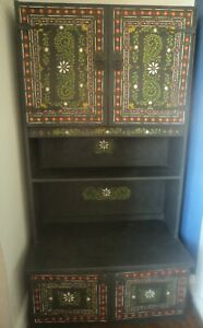 Original wall unit with cupboards and hand painted multicoloured bohemien design
