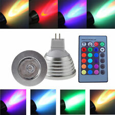 3PCS MR16 3W RGB 16 Colors Change LED Spot Light Lamp Bulb 12V + Remote Control