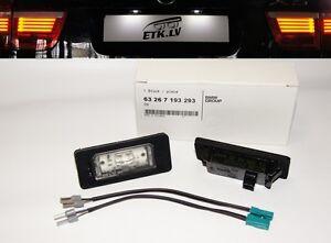 2 X Genuine BMW LED License Number Plate Light with cables E60 E90 E70 E71 SET