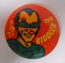 VINTAGE! 1966 Creative House Batman Pinback Button Pin-Riddler-R3