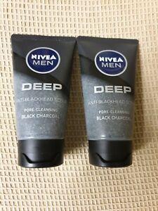 NIVEA MEN Deep - Anti-Blackhead Pore Cleansing Exfoliating Face Scrub 75ml X2