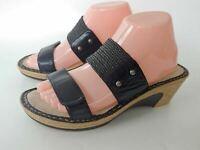 Womans ALEGRIA LANA BLACK CLASSY Wedge Sandles Size 39
