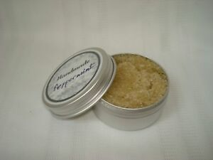 ORGANIC HANDMADE  SUGAR LIP AND FACE SCRUB WITH PEPPERMINT ESSENTIAL Oil