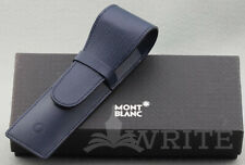 NEW!  MONTBLANC PEN POUCH TWO PENS BLUE 48009