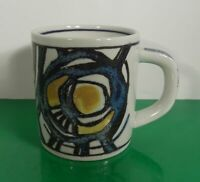 Royal Copenhagen 1973 Annual Mug Small Denmark Blue Yellow Collectible Fajance