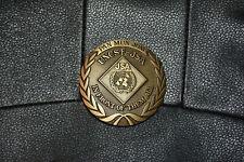 Vintage Pan Mun Jom Uncsf Jsa In Front Of Them All Korea Brass Belt Buckle