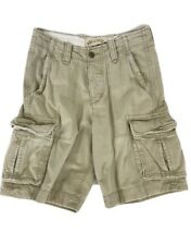 Hollister Cargo Shorts Mens 28 Actual 32 Button Fly Khaki Heavy Distressed Tan