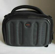 Canon Camera Bag Black Gray Padded Compartment Divide Zip Pocket No Strap
