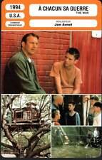 A CHACUN SA GUERRE - Costner,Wood,Avnet (Fiche Cinéma) 1994 - The War