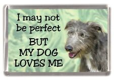 """Lurcher Dog Fridge Magnet  """"I may not be perfect BUT ....."""" by Starprint"""