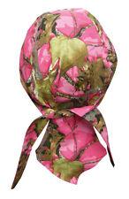 Pink Hunting Camo head wrap Durag Bandanna Sweatband Capsmith Free Shipping