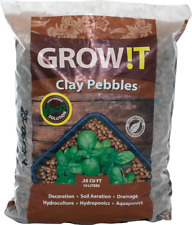 Hydrofarm Growt GMC40l Clay Pebbles, 4mm-16mm, 10 Liter Bag