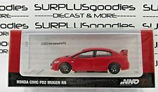 INNO64 1:64 Scale 2019 Release Red HONDA CIVIC FD2 MUGEN RR Item# IN64-FD2R-RR