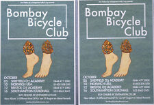 3 X BOMBAY BICYCLE CLUB TOUR FLYER CARDS -A DIFFERENT KIND OF FIX TOUR
