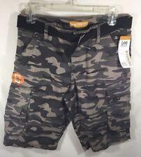 NWT Boys Lee Dungarees Cargo Camo Shorts Size 16 Adjustable Waist