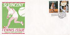 (03745) DE St VINCENT FDC Tennis 22 juin 1987