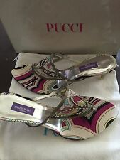 New Emilio Pucci Chif/SA Sandals 39 Made In Italy $535