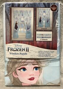 NEW Disney Frozen 2 Polyester MicroFiber Window Curtains 2 Panels 82in X 63in