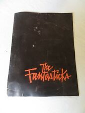 1967 The Fantasticks Play Program Tom Jones
