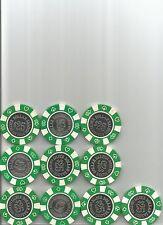 (10) $25 silver dollar saloon obsolete casino chips las vegas nv lot