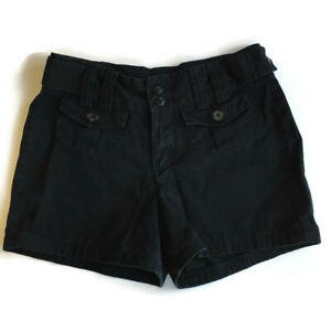 Riders' Casuals Women's Black Cargo Shorts 10 M High Waisted Cotton Pockets