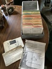 Rare Us Army Navy Air Force Military 1969 Recipe Service & Index Cards Wood Box