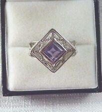 1.00 ct Natural Purple Amethyst 925 Sterling Silver Solitaire Ring