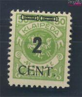 Memelgebiet 185 postfrisch 1923 Aushilfsausgabe (8731678