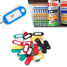10pcs Plastic Keychain Key Split Ring Id Tags Name Card Label Language Newly