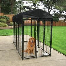 Outdoor Dog Kennel Run With Cover Waterproof For Large Dogs Lockable 6x8x4 Wire
