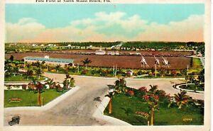 North Miami Beach FL Polo Field Postcard c1920