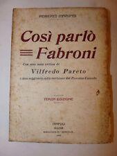 DIRITTO - MARVASI, Roberto: Così Parlò Fabroni 1921 Scintilla Processo CUOCOLO