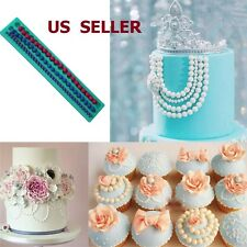 Pearl String Beads Silicone Fondant Mould Cake Sugarcraft Decorating Mold