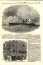 1855 Steam Tugboat Recruit French Embassy Albert Gate Illuminated