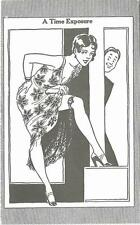 1920s USA Time Exposure Pretty Girl Cartoon Penny Arcade Card Postcard Size