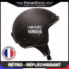 Kit 4 Stickers Retro Reflechissant Moto-sport Yamaha ref3; Casque autocollant