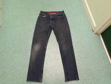 "George Straight Jeans Waist 32"" Leg 33"" Faded Dark Blue Mens Jeans"
