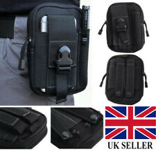 UK Tactical Molle Pouch Belt Military Hiking Camp Phone Pocket Waist Fanny Bags