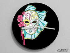 Viennese Theatrical Mask Wall Clock