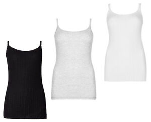 M&S Marks and Spencer Pointelle Thermal Ladies Camisoles Thin Strap Vest UK 6-22
